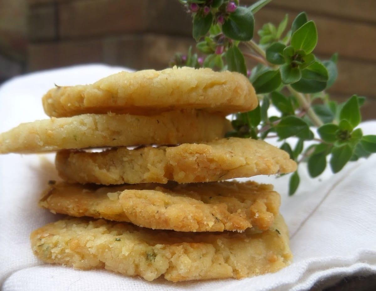 Biscuit salé thym citron parmesan